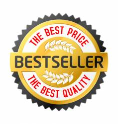 bestseller emblem vector image vector image