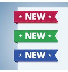 New paper label in flat style vector image