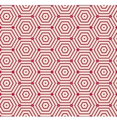Red pattern geometric background vector image vector image