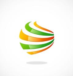 sphere abstract swirl communication logo vector image