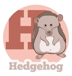 ABC Cartoon Hedgehog vector