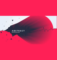 Abstract background with dynamic forms vector