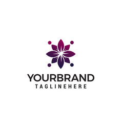 abstract flower spa cosmetic logo design concept vector image