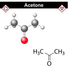 Acetone molecule vector image
