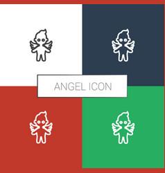 Angel icon white background vector