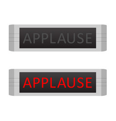 applause warning board message set vector image
