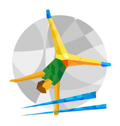 artistic gymnastics with abstract patterns vector image