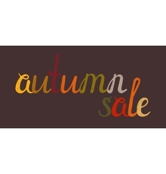 Autumn sale banner on brown background vector image