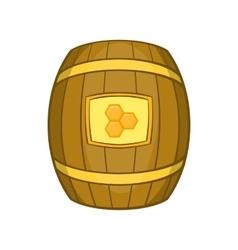 Barrel of honey icon cartoon style vector image vector image