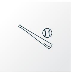 baseball icon line symbol premium quality vector image