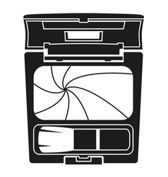 Black and white blusher with brush silhouette vector