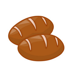 Bread cute isolated vector