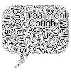 Bronchitis treatment text background wordcloud vector