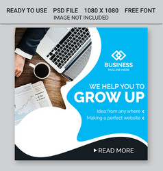 business instagram post banners vector image