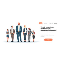 Business people team leader businessmen women vector