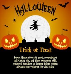 Cartoon halloween with text fields vector