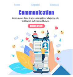 chat talk of young people using gadgets internet vector image