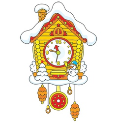 Christmas Cuckoo-Clock vector image