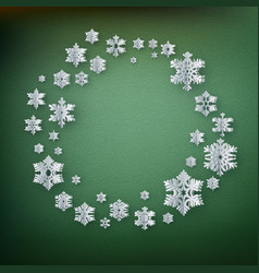 christmas decoration card template made of paper vector image