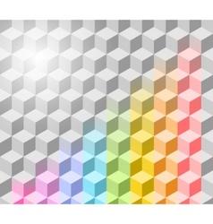 Cubism background vector
