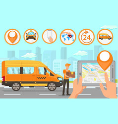 delivery service flat vector image