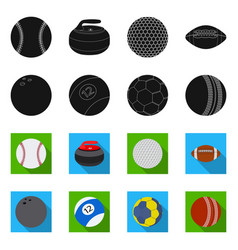 design of sport and ball symbol set of vector image