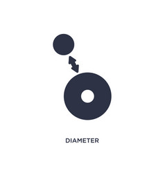 Diameter icon on white background simple element vector