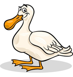 duck farm bird animal cartoon vector image