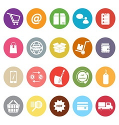 Ecommerce flat icons on white background vector