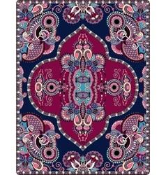 Elaborate original floral large area carpet design vector