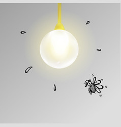 electric light bulb realistic vector image