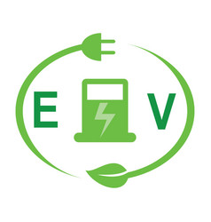 ev charging vector image