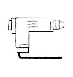 Figure pistol tool car service repair vector