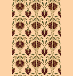 Floral pattern with pomegranates vector