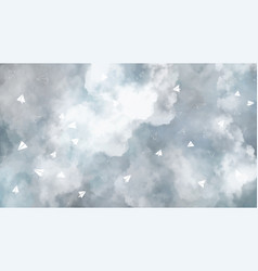 Full screen art abstract sky cloud vector