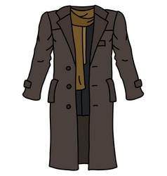 Funny brown long coat vector