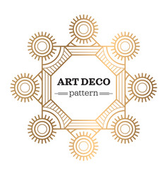 Gatsby art deco background vector
