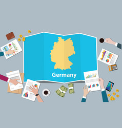germany economy country growth nation team vector image