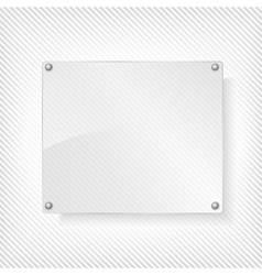 Glass board vector
