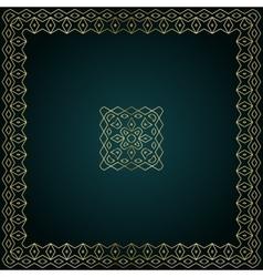 Golden decorative frame with logo design vector image