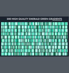 Grren emerald chrome gradient setpatterntemplate vector