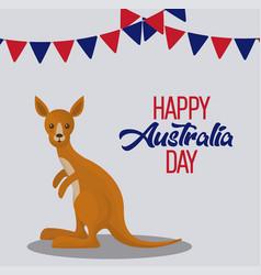 happy australia day background vector image