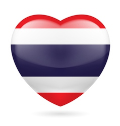 Heart icon of Thailand vector image