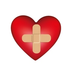 heart shape health care emblem icon image vector image