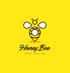 Honey bee point vector