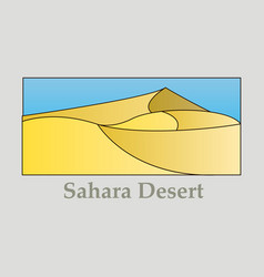 Landscape of sand hot desert with wind and sky vector