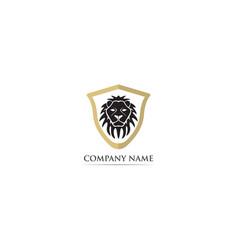 Lion head mascot logo and symbol vector