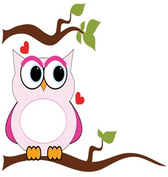 Love Owl vector image