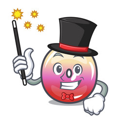 Magician jelly ring candy mascot cartoon vector