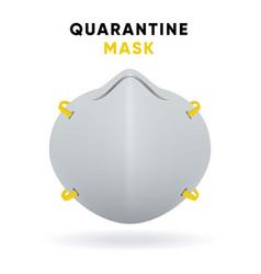 medical face mask for quarantine coronavirus vector image